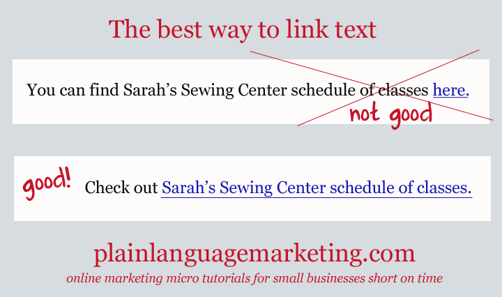 anchor text micro tutorial - tips for small businesses
