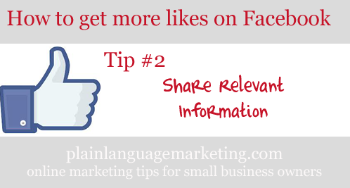 how to get more likes on facebook - tip 2 - plain language marketing